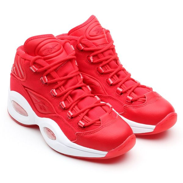 all red reebok shoes