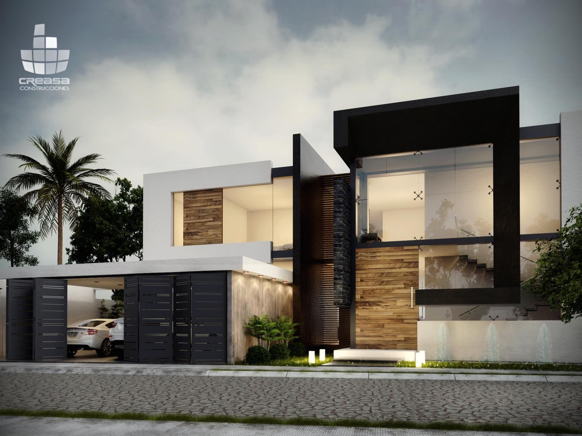 Creasa fachada pinterest fachadas casas y arquitectura for Casas modernas brasil