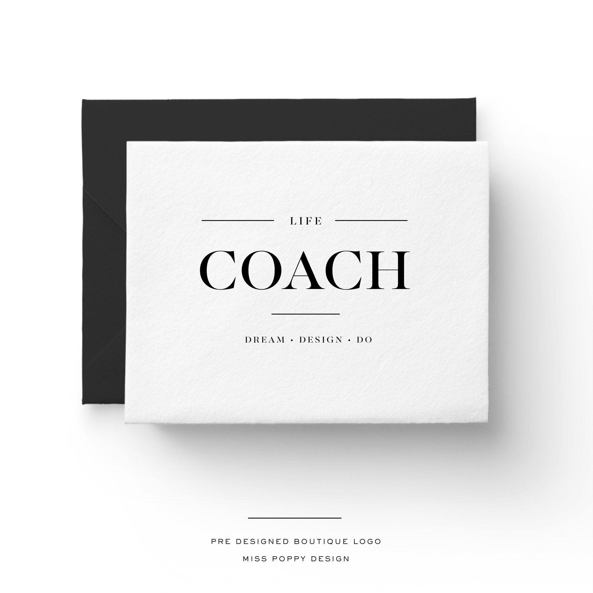Life Coach- Pre Made Designer Logo | Life coach business cards ...