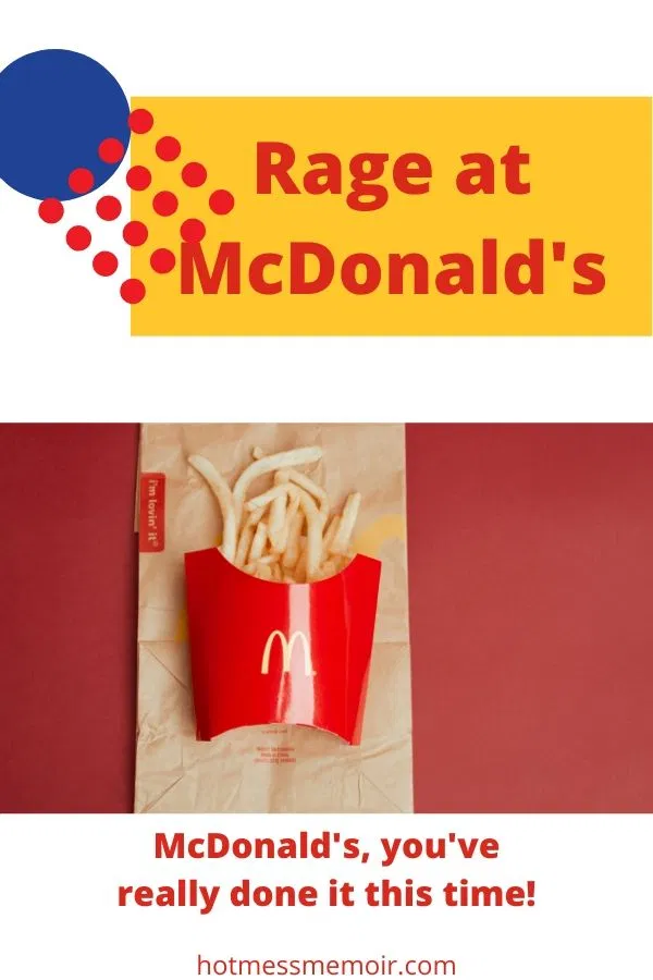 Rage at McDonald's in 2020 Mcdonalds, Memoirs, Rage