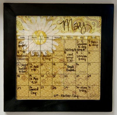 Wall Calendar--calendar in a picture frame with dry erase board ...