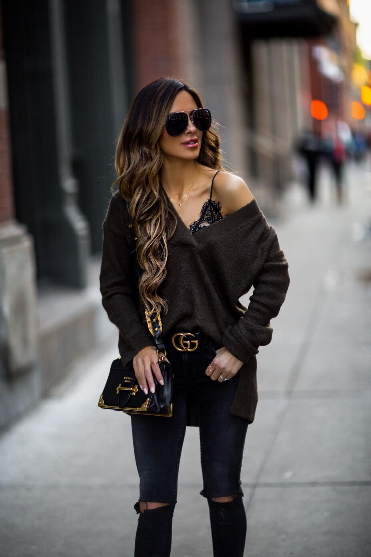 c5d73bf31cac fashion blogger mia mia mine wearing a prada cahier bag and a lace bralette  from shopbop