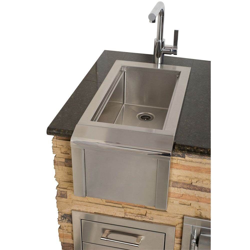 Alfresco Bartender Sink System 10 Wide Speed Rail Sink Outdoor Kitchen Bars Outdoor Kitchen Sink