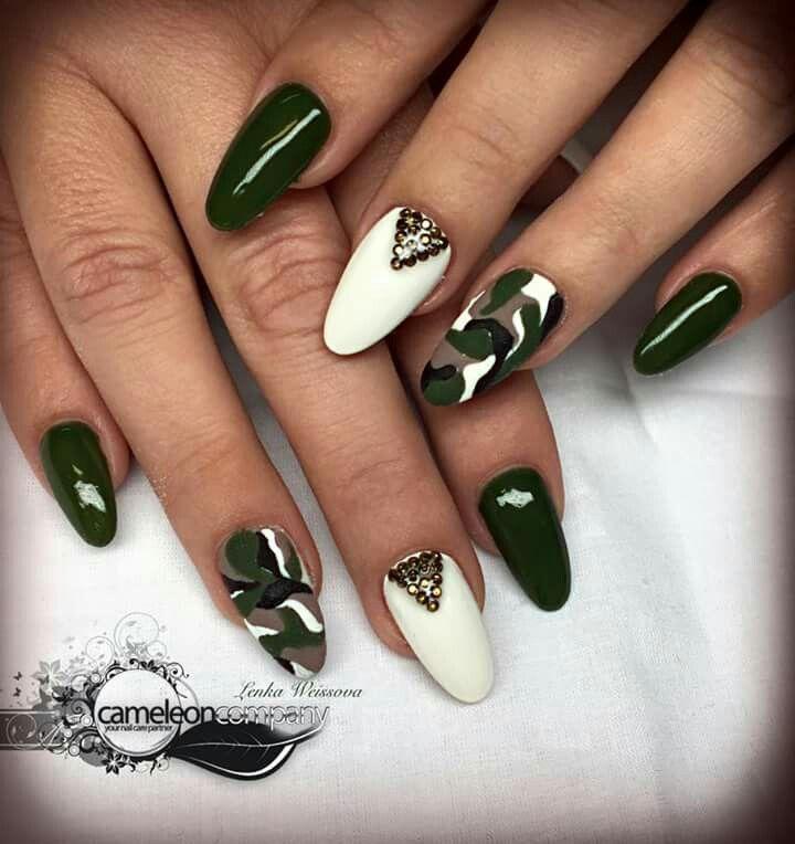 Almond nails army green - Almond Nails Army Green Nail Design Pinterest Almond Nails