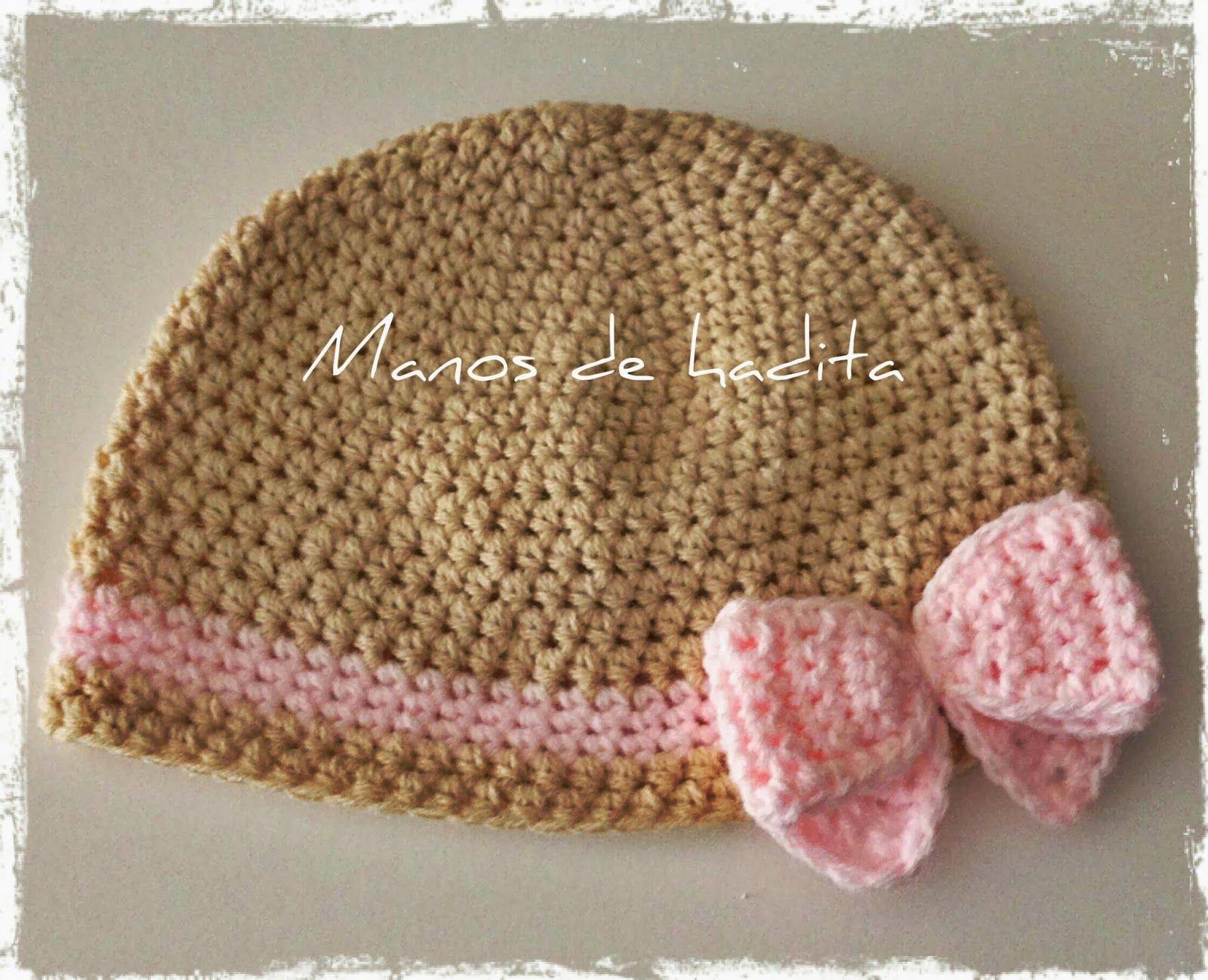 Manos de hadita: Gorro lazo multicolor bebé a crochet   Crochet for ...