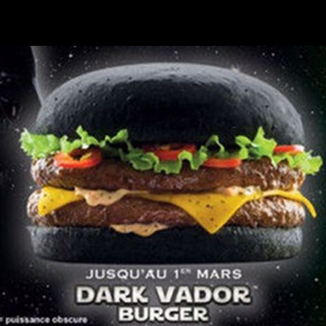 Darth Vader burger from Quick (French fast food chain) | Global ...