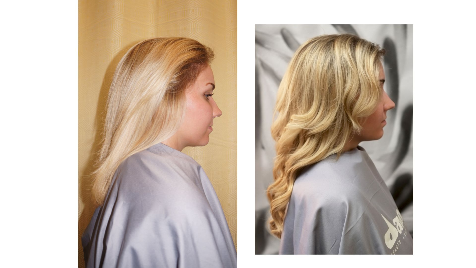 Hairdreams Nano Before And After Blonde 14 Inch Hair Extensions