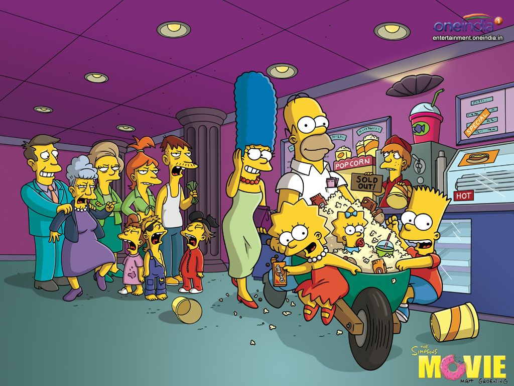 The Simpsons Movie Baf 2007 Marge Simpson Simpsons Cartoon Cartoon Wallpaper