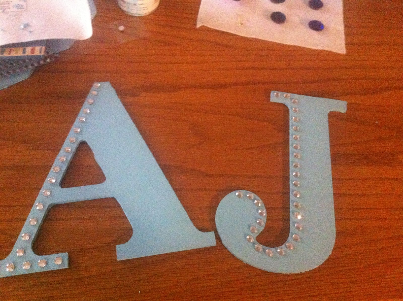 Easy Diy Wall Letters I Got Thin Large Wooden Letters For Myself