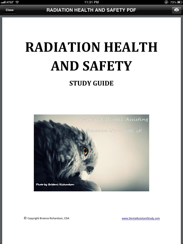 Radiation Health and Safety DANB exam study guide www