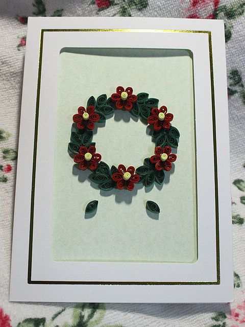 Xmas Wreath, paper quilling craft
