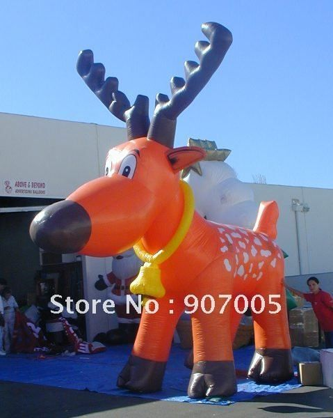 dd45 10mh 33 huge outdoor christmas decoration inflatable christmas reindeerfor christmas event - Huge Inflatable Christmas Decorations