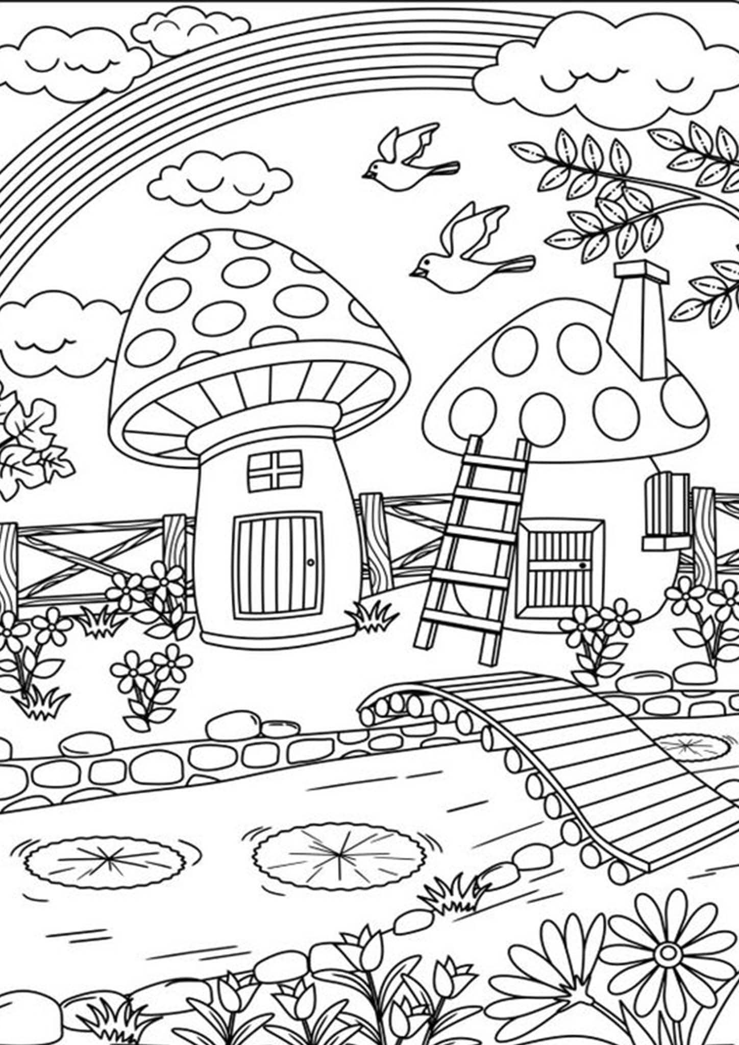 Pin On Houses Building Places Coloring Pages