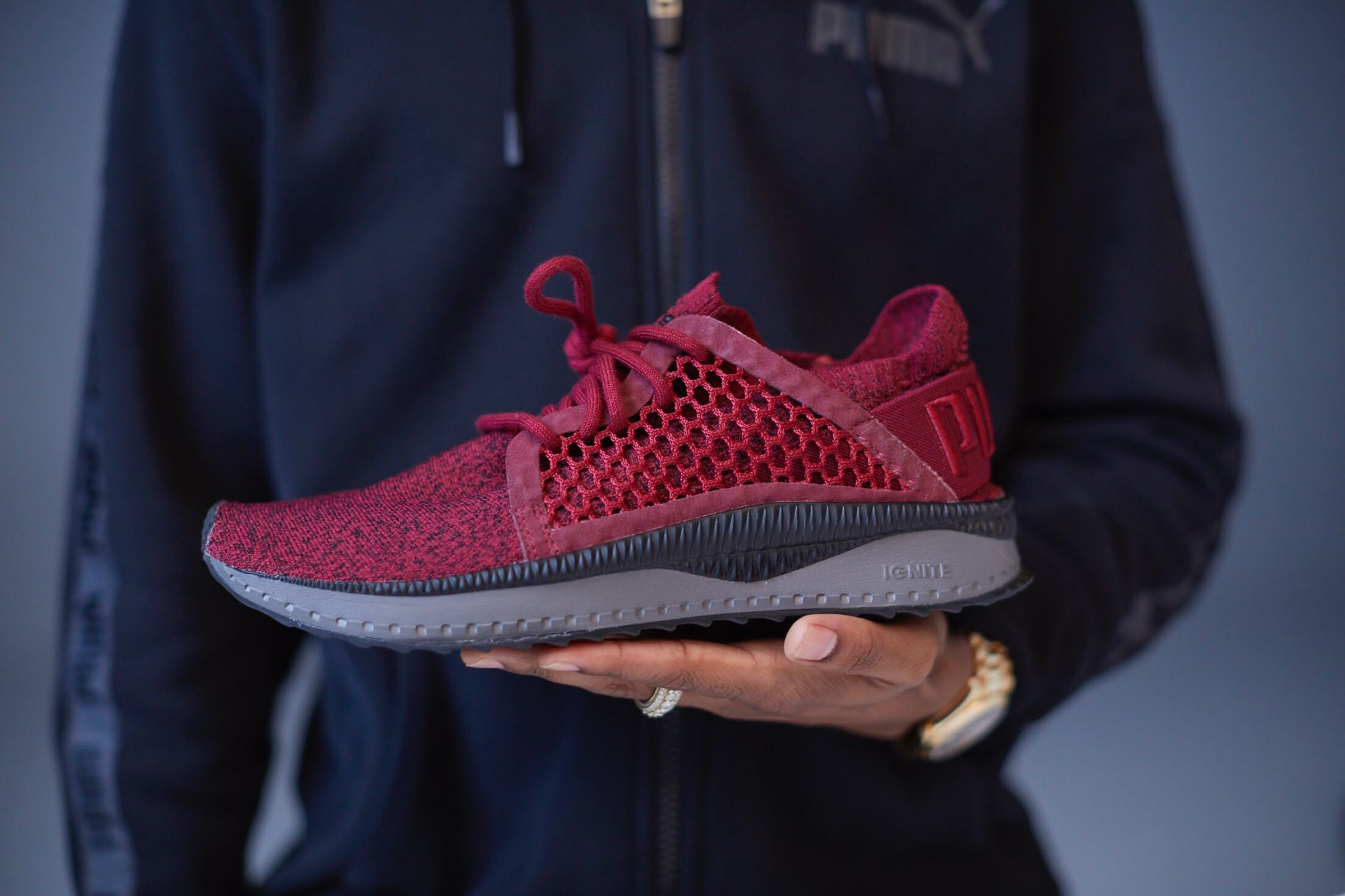 136d4e55371 The PUMA TSUGI NETFIT evoKNIT Triumph Red will release at select retailers  on September 26th at