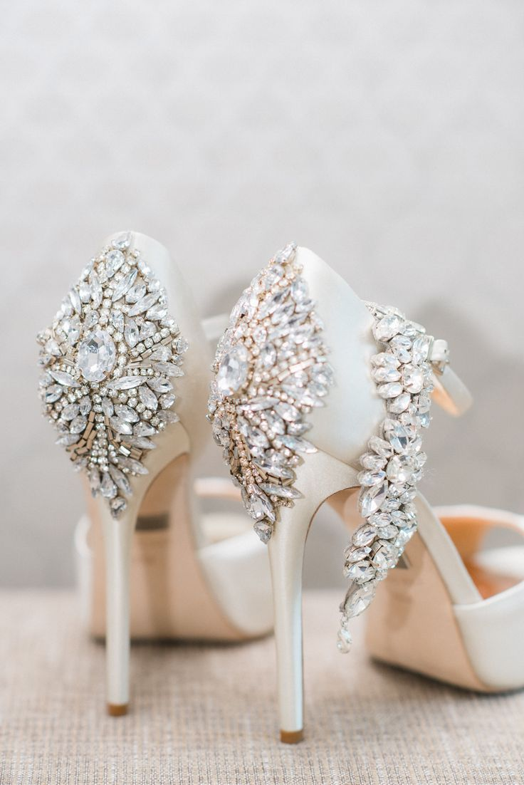 LOVE the embellished heels of these beautiful bridal shoes! f8fd8b902b5a