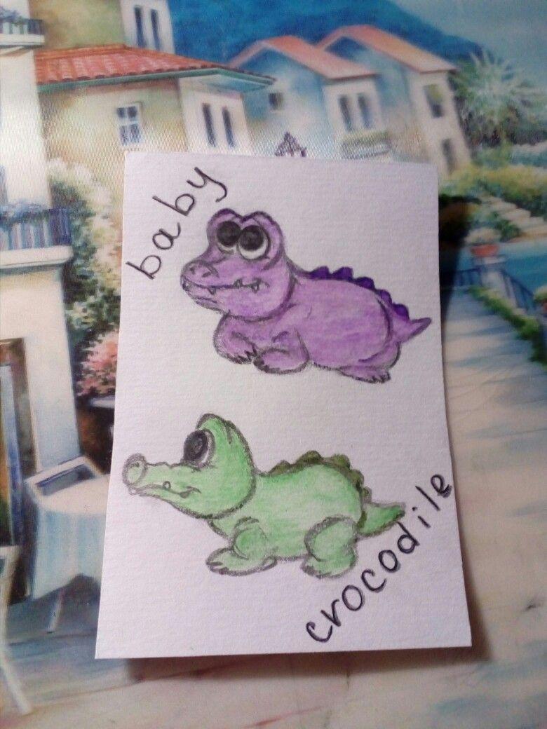 Pin by Дарья Иванова on арты Crocodile, Baby
