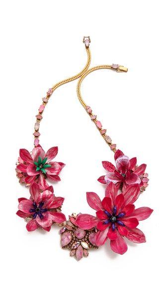 Erickson Beamon Urban Jungle Floral  Necklace