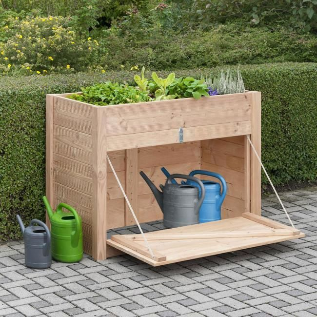 """Photo of Raised bed with storage space """"Type 537"""", Douglas fir, untreated 51 kg 2 years at HE …"""