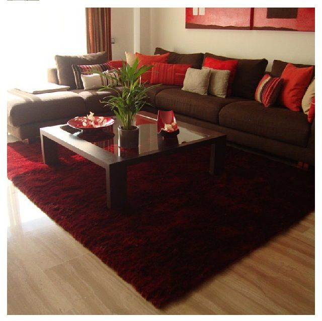 Brown Couch Living Room Design: Living Room Carpet