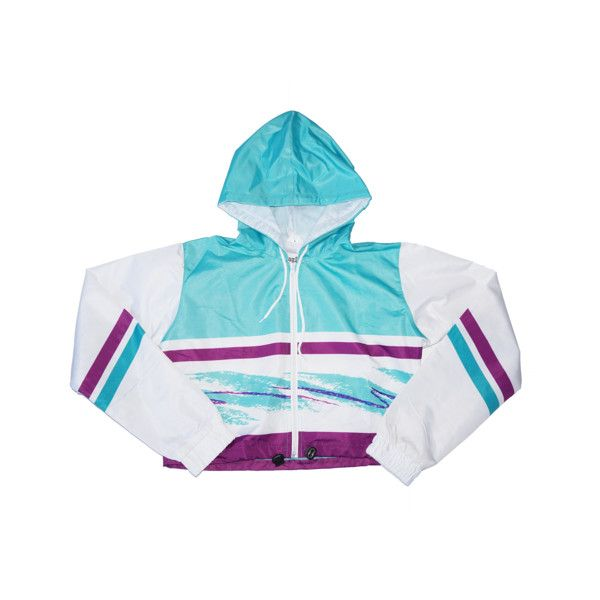 97de46eab 90s Cup Crop Windbreaker ($52) ❤ liked on Polyvore featuring ...
