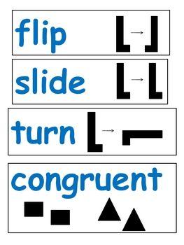 flip slide turn congruent word wall create educate pinterest