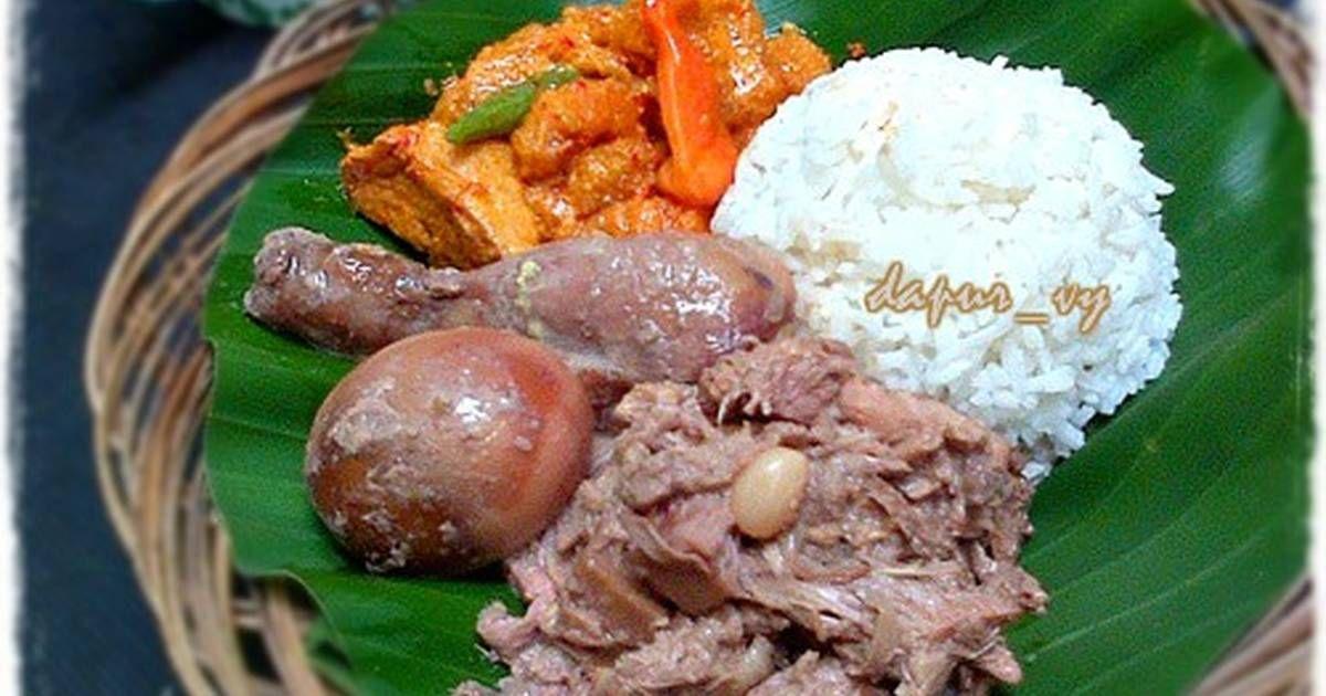 Resep Gudeg Merah Gula Merah All In One Method Oleh Dapurvy Resep Makanan Makanan Dan Minuman Resep