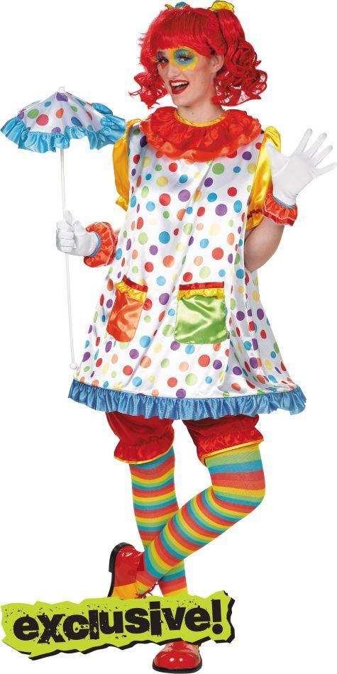Adult Clown Girl Costume Party City Disfraz De Payaso