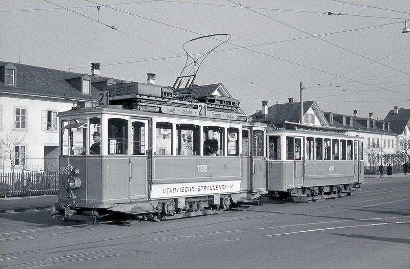 Bild 314 Vbz Zurich Kalkbreite Tram Ce 2 2 1198 Aufnahme 1957 Strassenbahn Bilder Stadt