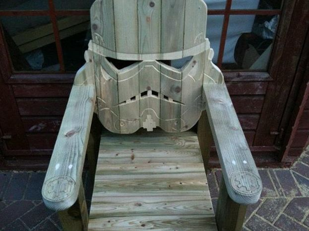 Stormtrooper Head Wood Lawn Chair Woodwork Crafts Pinterest