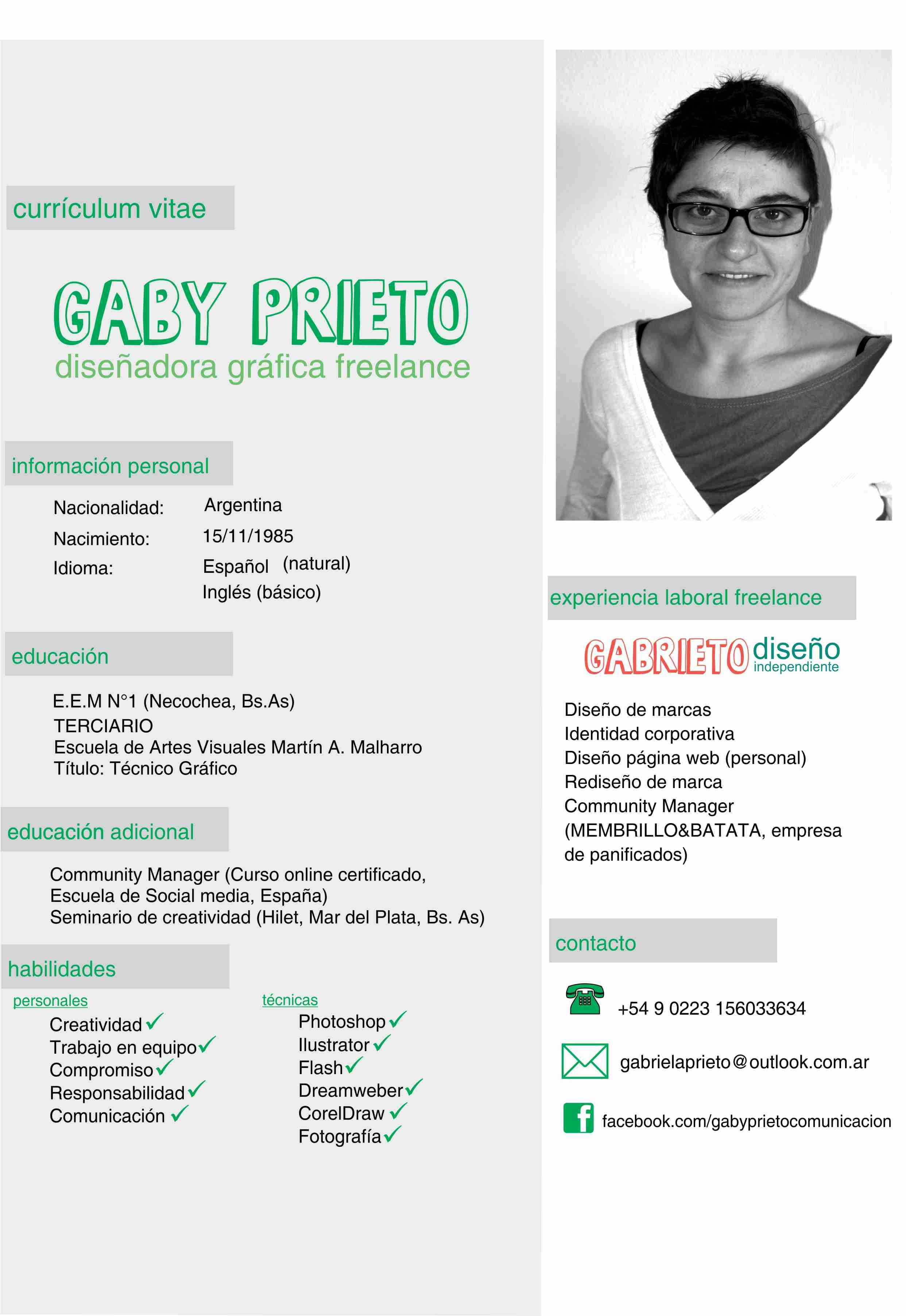 Gabi, de Argentina, nos envía su #currículum. ¿Qué te parece ...