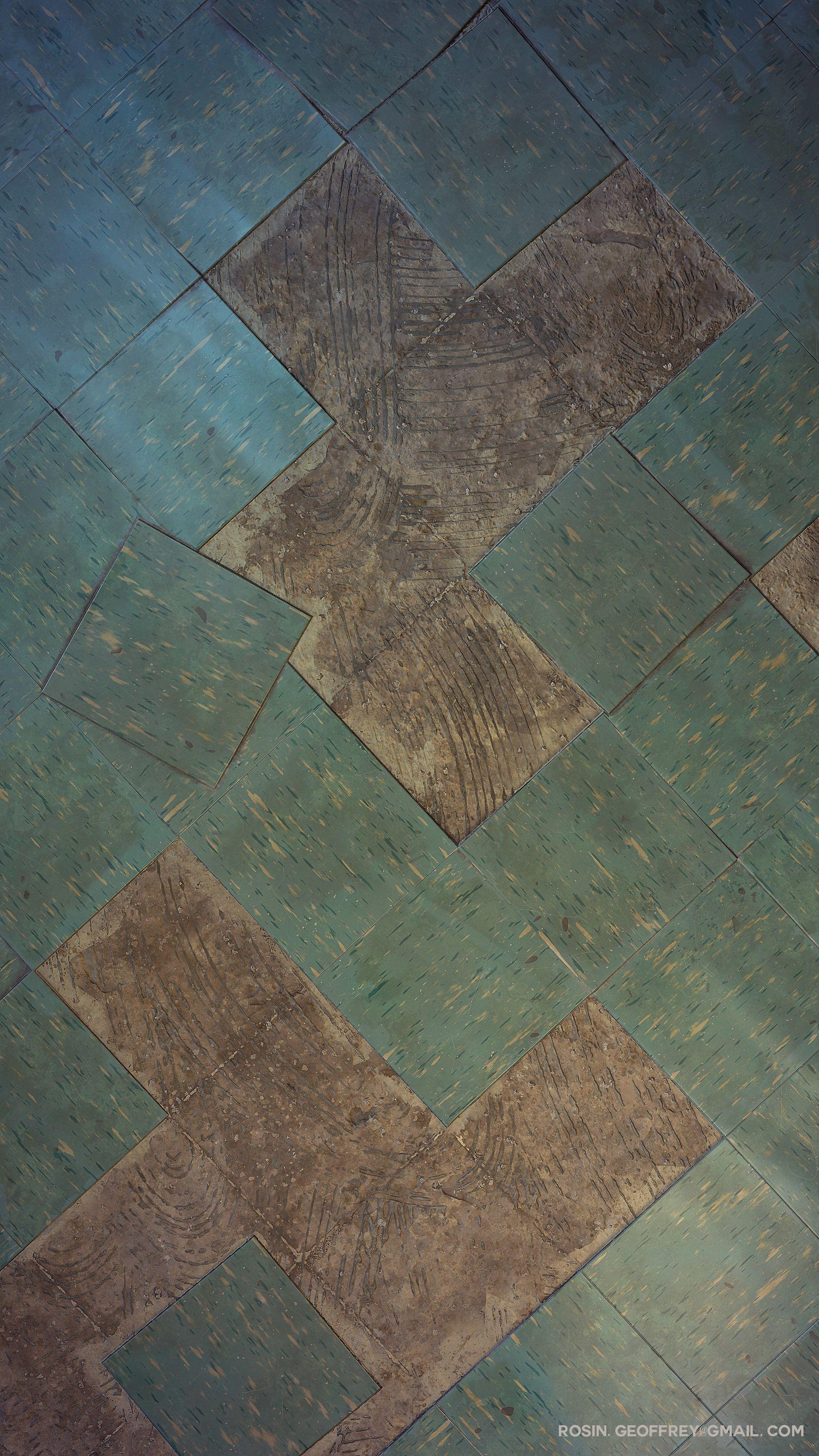 ArtStation Asbestos Tile, Geoffrey Rosin Asbestos tile