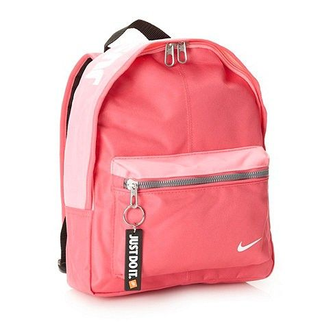 nike nike girls pink logo printed backpacknike backpack
