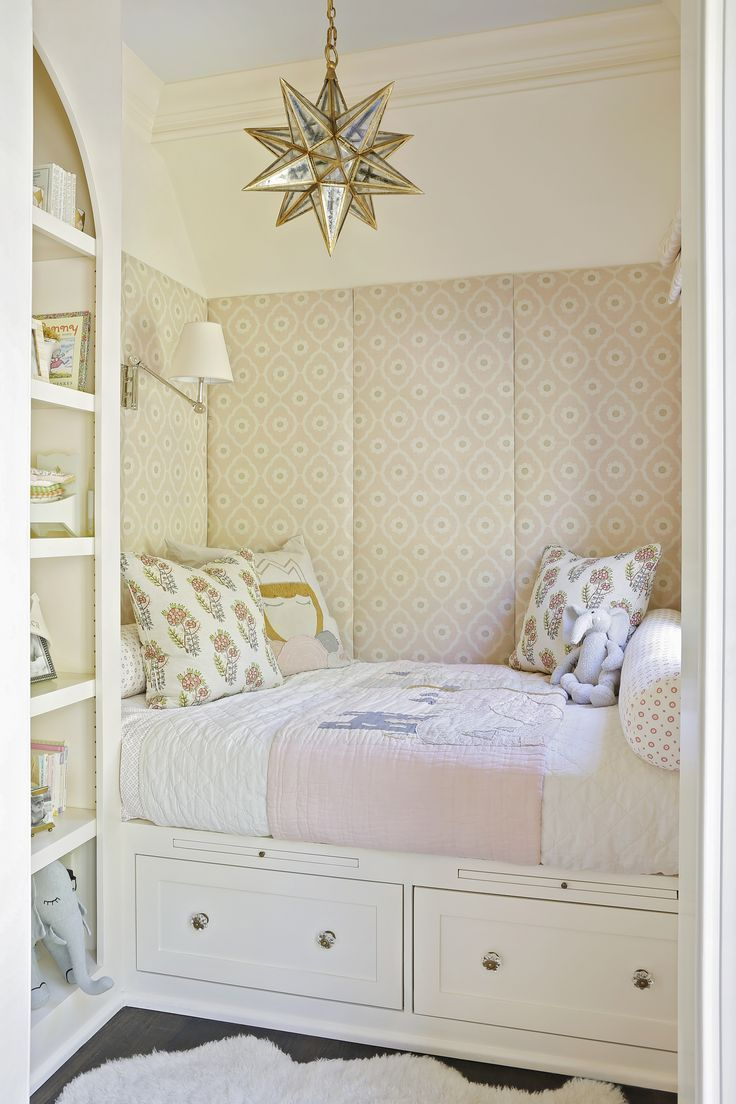 Friday Inspiration Pink Door! Bedroom nook, Bed nook