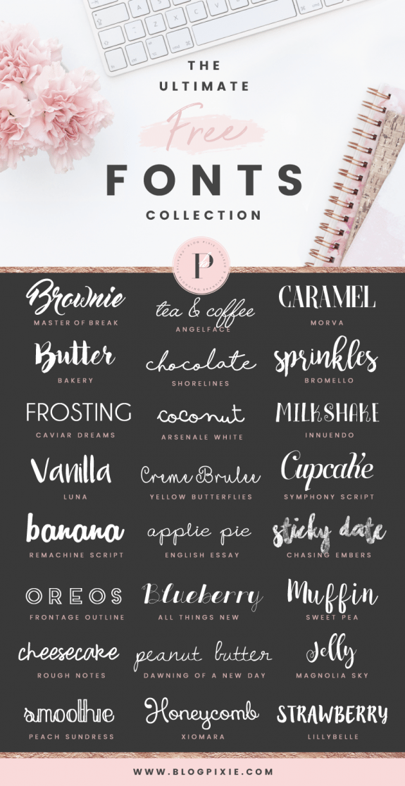 Download The best free fonts to download for your brand blog or ...