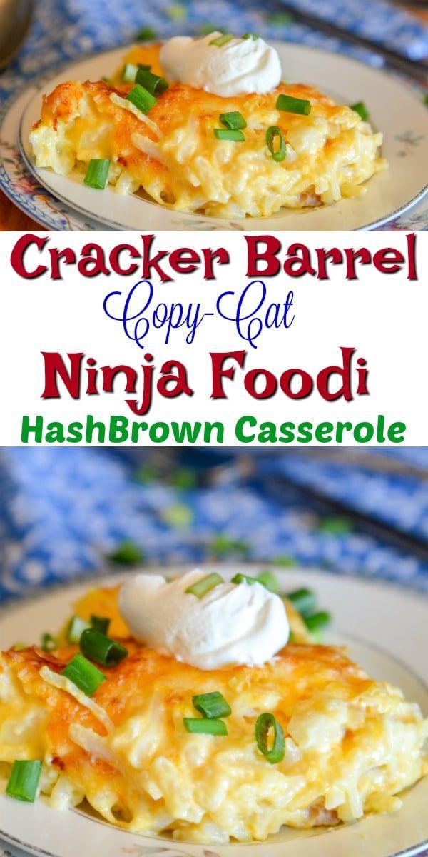 Cracker Barrel Copy Cat Hashbrown Casserole made in the Ninja Foodi via @adventuresofanurse