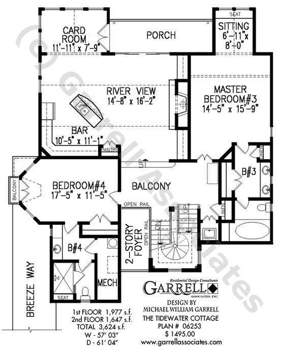 Tide Water Cottage House Plan 06253 Garrell Associates Inc Cottage House Plans House Plans Foyer Decorating