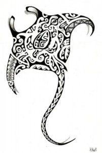 Tatouage raie manta tribal_10