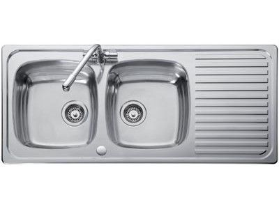 stainless steel sinks hafele double bowl sink - Double Drainer Kitchen Sink