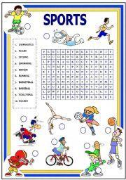 English Worksheet Sports With Key