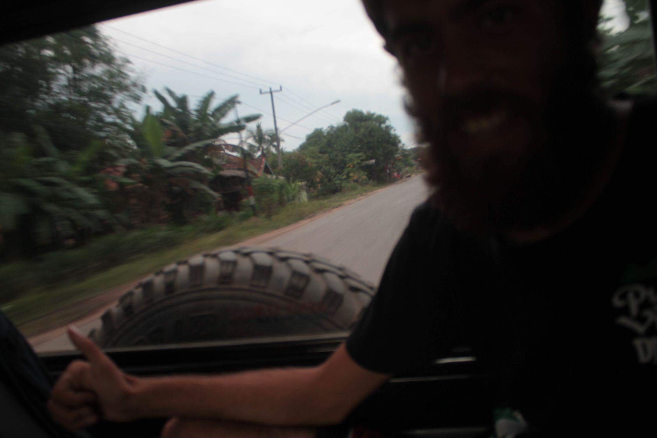 En el último vehículo
