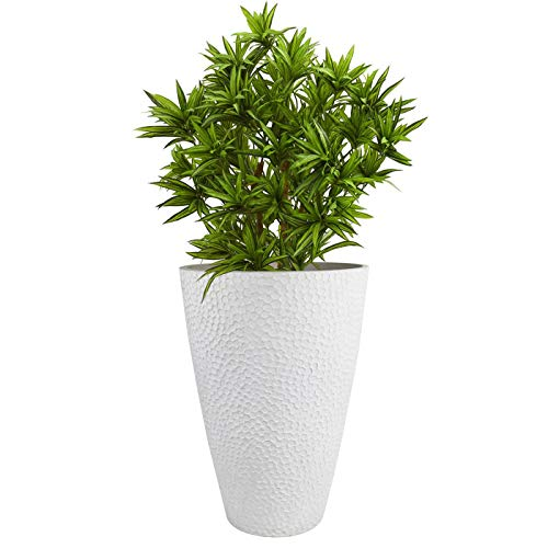 Large White Tall Planter Indoor Outdoor House Plant Pot Resin Plant Containers Sale Backyardequip Com House Plant Pots Tall Planters Container Plants