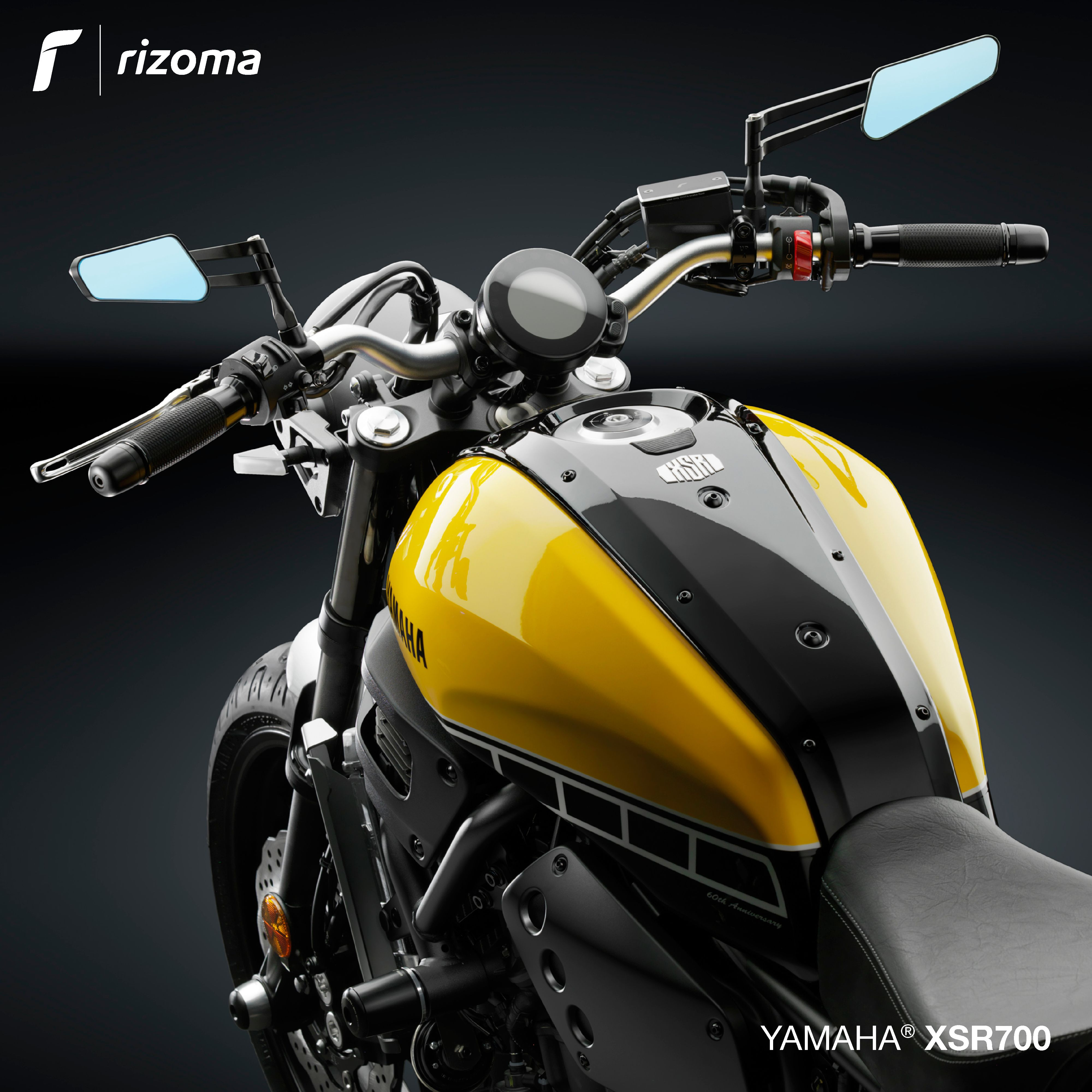 rizoma accessory line for yamaha xsr 700 rizoma. Black Bedroom Furniture Sets. Home Design Ideas