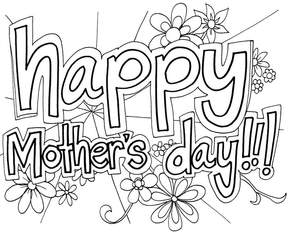 Happy mothers day coloring pages printable for free