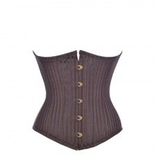 brown jacquard underbust corset with images  underbust