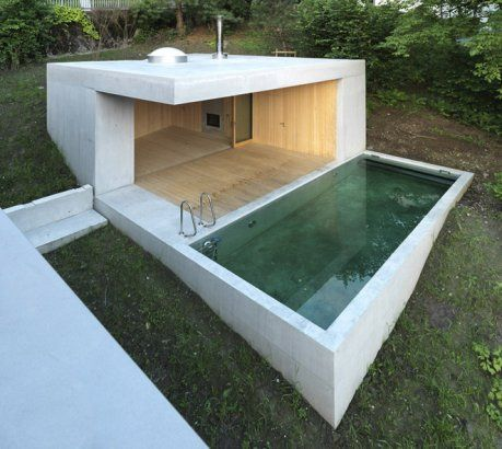 Best swimming pools & spas designs: Small outdoor concrete pool ...