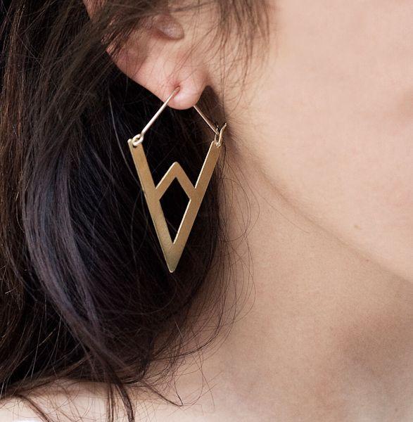 Mountain Hoop Earrings