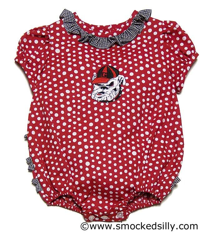 e107a7465fbe Little Girl Outfits · Smocked Silly - NCAA UGA Georgia Bulldogs Red Bubble,  $44.00 (http://
