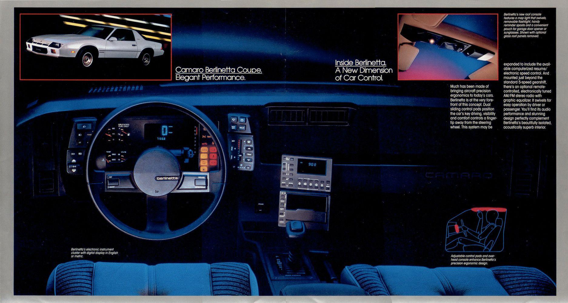 1984 1985 chevrolet camaro sales brochures chevrolet camaro chevrolet and brochures