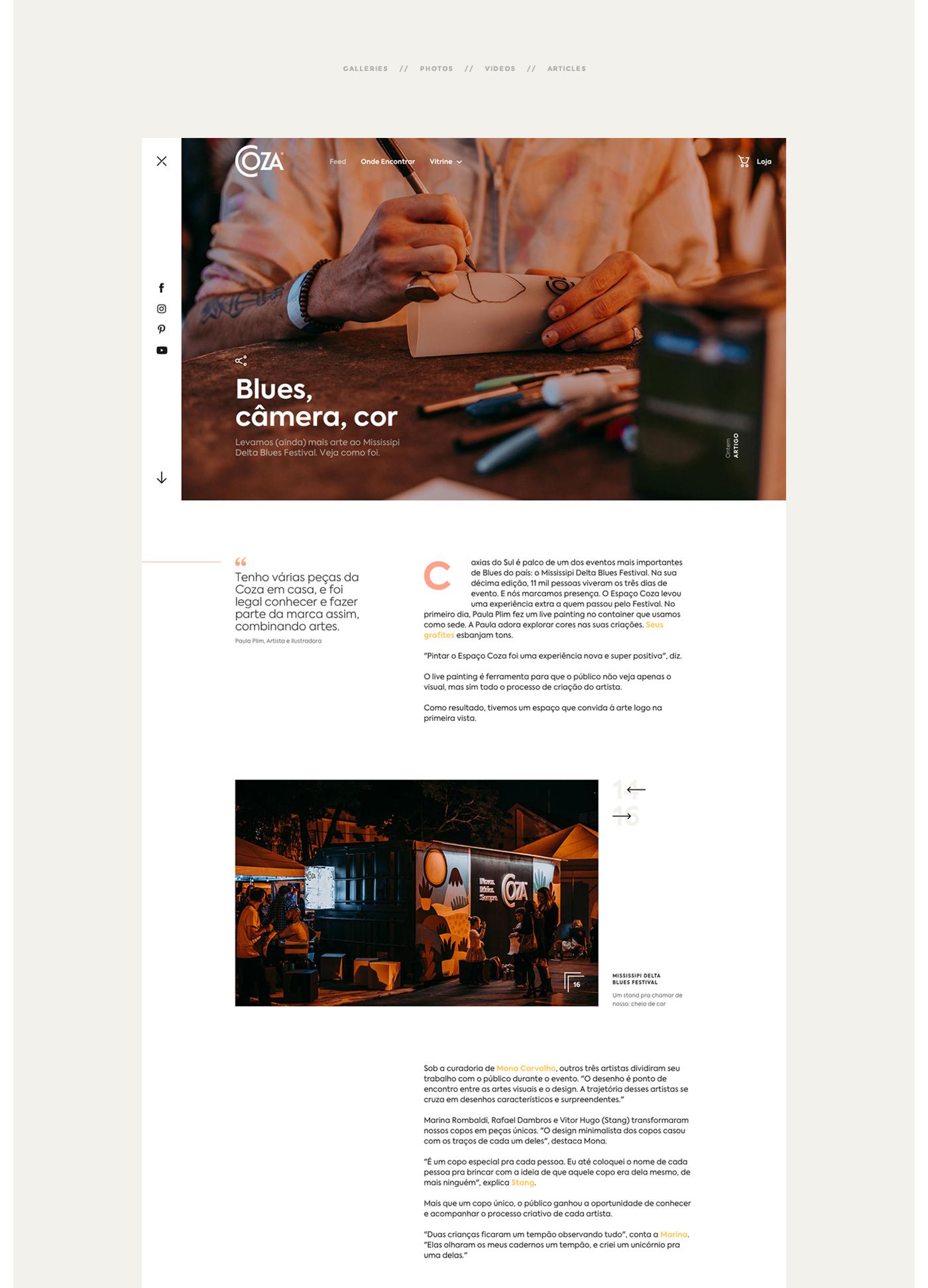Solid Web Design Project For Coza Domestic Products Web Design Projects Web Design Web Development Design
