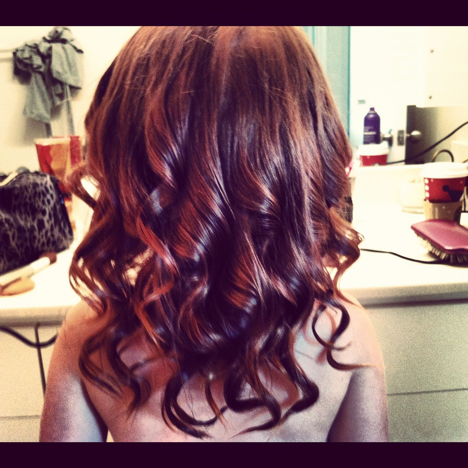 Cute spiral curls done with a wand